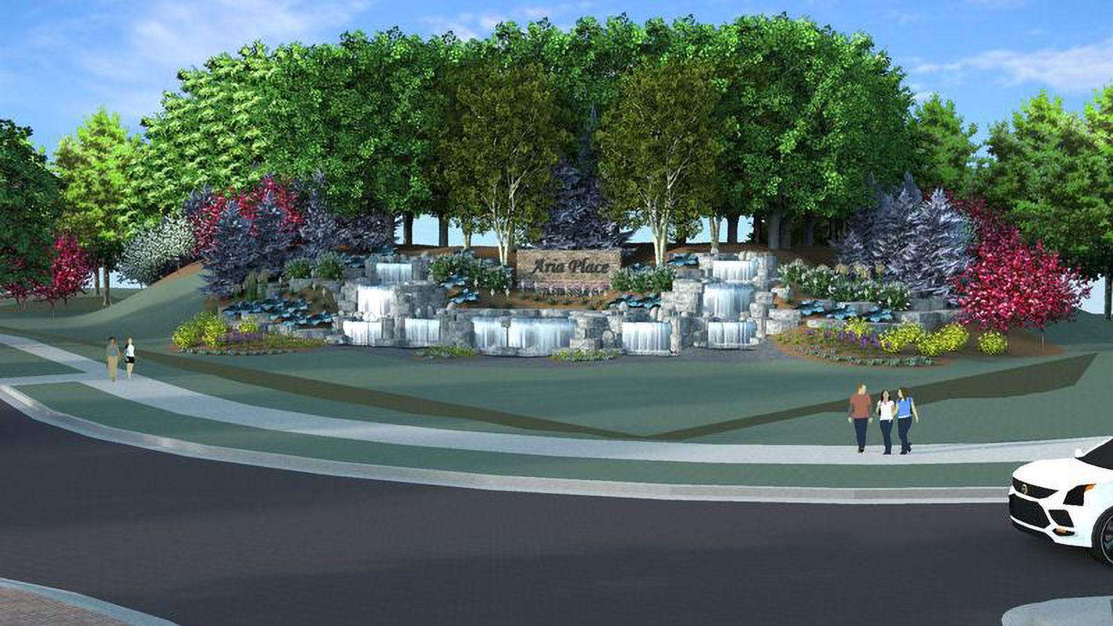 Municipal and Commercial Landscaping Waterfall in Green Bay, IW