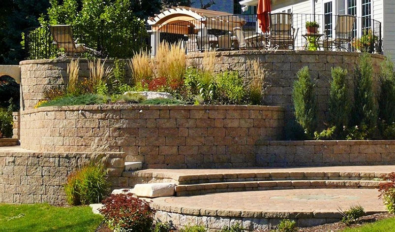 Patios, Retaining Walls, and Outdoor Kitchen Landscaping in Green Bay, WI